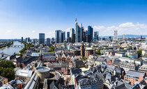 Germany, Hesse, Frankfurt, Skyline, financial district, old town, Roemer and Dom-Roemer Project - AMF06074