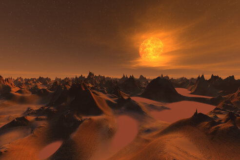 3D rendered illustration of the surface of planet mars - SPCF00275