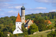 Germany, Bavaria, Swabia, Donau-Ries, Moenchsdeggingen, Abbey and St George's Church - SIEF08041