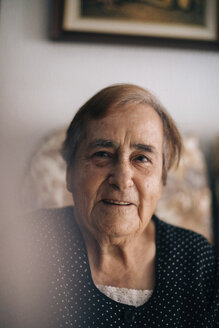 Portrait of smiling senior woman at home - CAVF50186