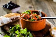 Spanish Albondingas, meatballs in spicy tomato sauce - SBDF03777
