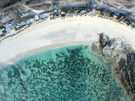 Indonesia, Lombok, Aerial view of Tanjung Aan beach - KNTF02215