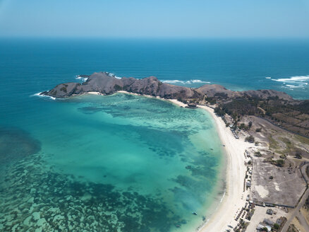 Indonesia, Lombok, Aerial view of beach - KNTF02248