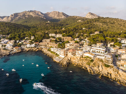 Spain, Balearic Islands, Mallorca, Aerial view of Bay of Sant Elm - AMF06110