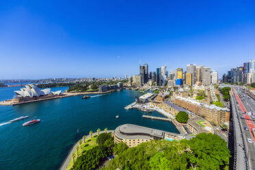 Australia, New South Wales, Sydney, Sydney Opera House and city view - THAF02293