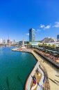 Australia, New South Wales, Sydney, city view, promenade - THA02302