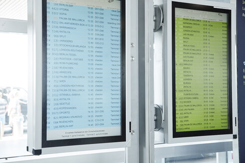 Arrival departure board at the airport - RHF02193