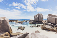 Seychelles, La Digue, Anse Marron with granite rocks - MMAF00692