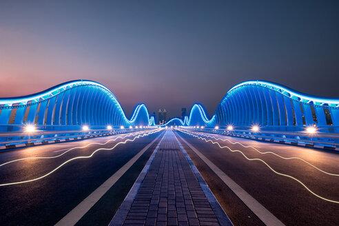 Meyden Bridge illuminated in Dubai - LUXF02034