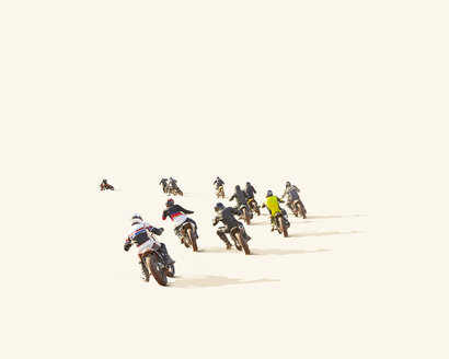 People motocross racing against white background - LUXF02069