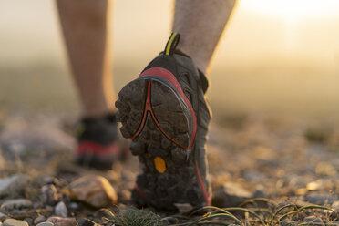 Close-up of feet of a hiker - AFVF01891