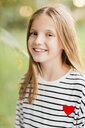 Portrait of smiling blond girl - NMSF00286