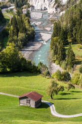 Switzerland, Grisons, Ruinaulta , Rhine canyon - STSF01773