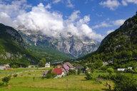 Albania, Shkoder County, Albanian Alps, Theth National Park, Theth, Radohima massif - SIEF08087