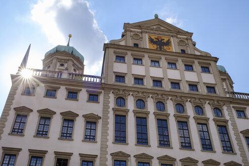 Germany, Bavaria, Augsburg, Townhall, east facade against the sun - SIEF08110