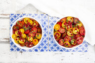 Oriental tomato salad with pomegranate seeds and mint - LVF07522