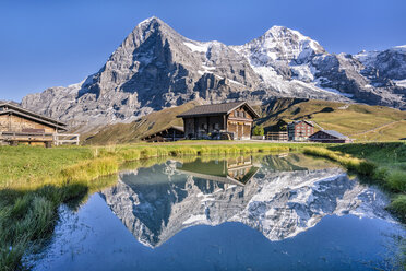 Switzerland, Bernese Oberland, Bernese Alps, Kleine Scheidegg, Eiger, Moench and Jungfrau - STSF01785