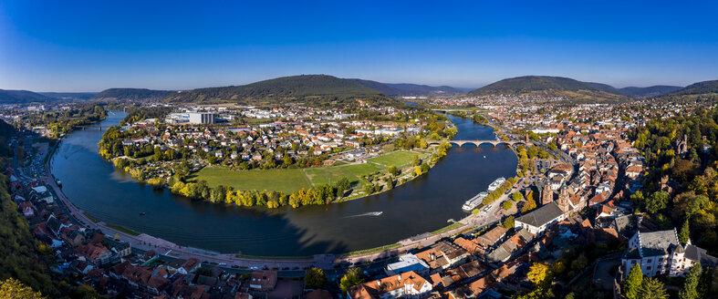 Germany, Bavaria, Miltenberg, river Main, panoramic view - AMF06145
