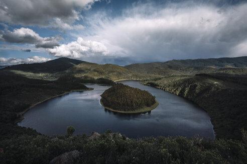 Spain, Extremadura, Las Hurdes, Caceres, river, meander - OCMF00050