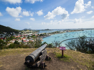 Caribbean, Sint Maarten, View of Marigot Bay and Sandy Ground - AMF06150