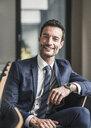 Portrait of a successful businessman, smiling - UUF15764