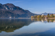 Germany, Bavaria, East Allgaeu, Fuessen, Weissensee, lake in autumn - STSF01792