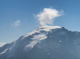 Border region Italy Switzerland, mountain landscape with snowcapped Ortler - LAF02155