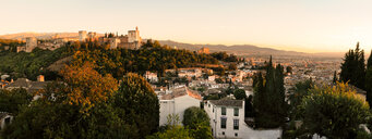 Panorama of albaicin, alhambra in granada, andalusia, spain - INGF06323