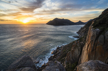 South Africa, Sunset over Hout Bay, Cape of Good Hope - RUNF00173