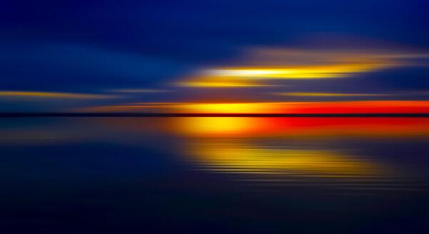 Germany, Bavaria, Chiemsee, Lake at sunset - JTF01136