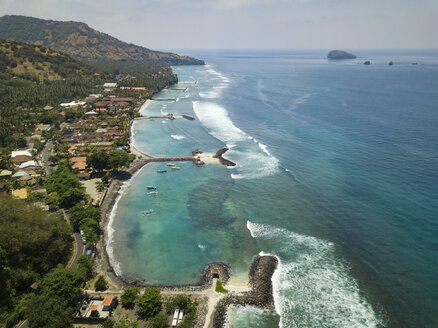 Indonesai, Bali, Aerial view of Candidasa - KNTF02297