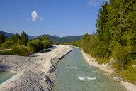 Germany, Bavaria, Upper Bavaria, Werdenfelser Land, Isar river near Wallgau - LBF02176