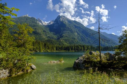 Germany, Bavaria, Upper Bavaria, Berchtesgadener Land, Ramsau, Berchtesgaden National Park, Lake Hintersee, Hochkalter mountain - LBF02185