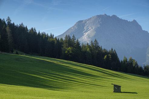 Germany, Bavaria, Berchtesgadener Land, Berchtesgaden Alps, Hochschwarzeck near Ramsau, Watzmann in the background - LBF02197