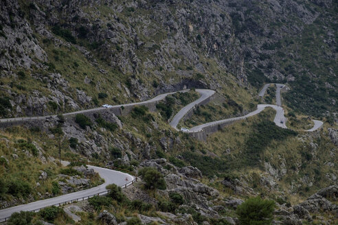 Spain, Mallorca, Sa Calobra, mountain road - HLF01142