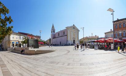 Croatia, Istria, Porec, Freedom Square, Church of Our Lady - WW04445