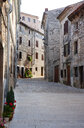 Croatia, Istria, Bale, Old town, empty alley - WWF04466