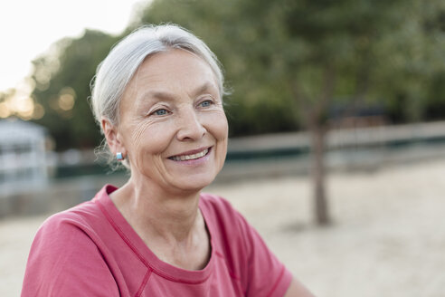 Portrait of relaxed senior woman outdoors - VGF00141
