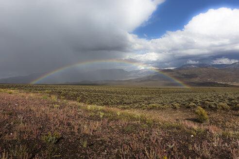 USA, Utah, landscape and rainbow - FCF01639