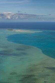 Cook Islands, Rarotonga, Aerial view of Aitutaki lagoon - RUNF00200