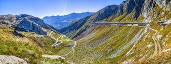Switzerland, Ticino, Aerial view of Gotthard Pass - STSF01794