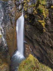Germany, Bavaria, Oberallgaeu, Allgaeu Alps, Dietersbach Valley, Hoelltobel, waterfall - STSF01806