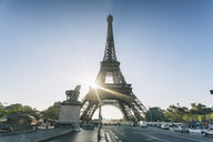 Eiffel Tower against clear sky, Paris, France - AURF07756