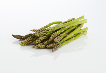Green asparagus on white ground - KSWF01982