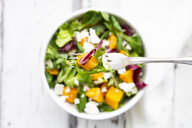 Fork of autumnal salad with feta and Hokkaido pumpkin - LVF07550