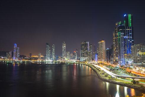 Panama, Panama City, skyline at night - RUNF00203