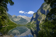 Germany, Bavaria, Upper Bavaria, Berchtesgaden Alps, Berchtesgaden National Park, Salet, Fischunkelalm at Lake Obersee - LBF02246
