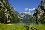 Germany, Bavaria, Upper Bavaria, Berchtesgaden Alps, Berchtesgaden National Park, Salet, Fischunkelalm at Lake Obersee - LB02249
