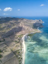 Indonesia, Sumbawa, West Sumbawa, Aerial view of Jelengah beach - KNTF02323