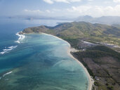 Indonesia, Sumbawa, West Sumbawa, Aerial view of Jelengah beach - KNTF02326